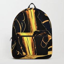 Plant in Blue Marker - Leaf of Life Miracle Leaf - Black and Gold Backpack