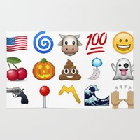 emoji Area & Throw Rugs featuring Emoji  by Life.png