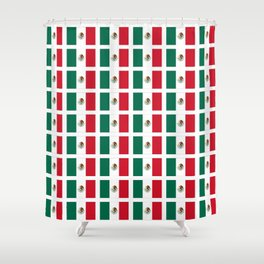 Flag of mexico 2- mexico,mexico city,mexicano,mexicana,latine,peso,spain,Guadalajara,Monterrey Shower Curtain