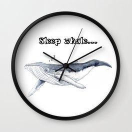 Sleep whale Wall Clock