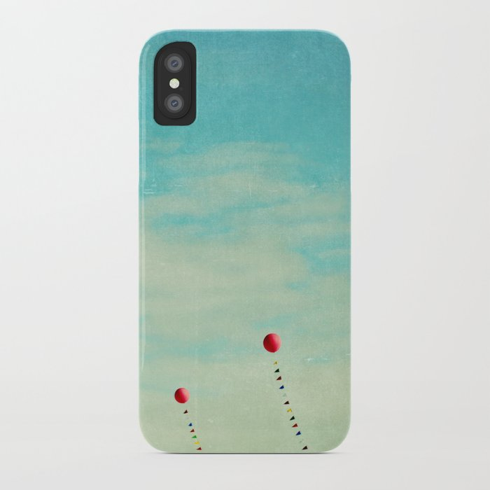 three red balloons II iPhone Case