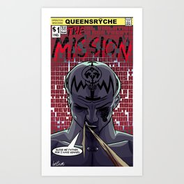 Operation Mindcrime Graphic Novel: The Mission Art Print
