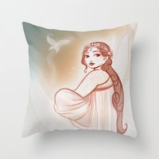 Moon Fairy Throw Pillow