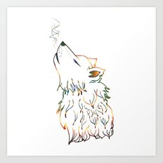 Lone wolf sketch Art Print