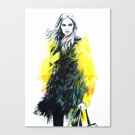 In yellow. Canvas Print
