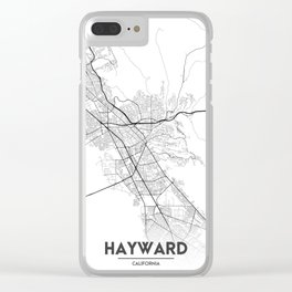 Minimal City Maps - Map Of Hayward, California, United States Clear iPhone Case