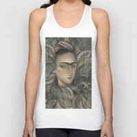 frida kahlo Tank Tops featuring Frida Kahlo by Antonio Lorente