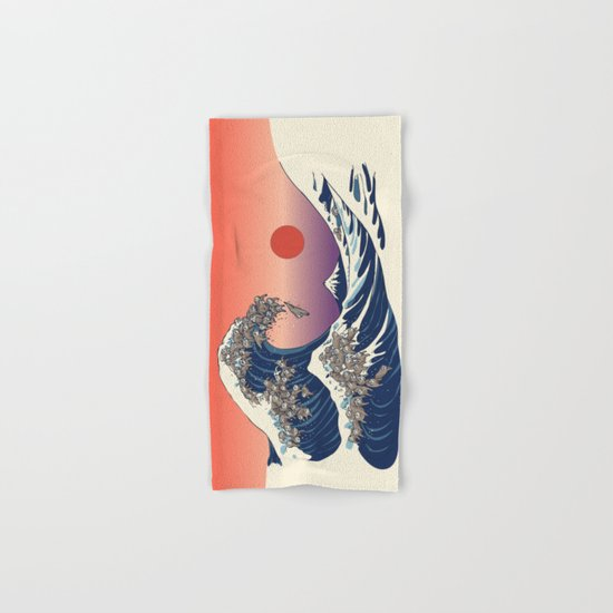 The Great Wave of Sloth Hand & Bath Towel