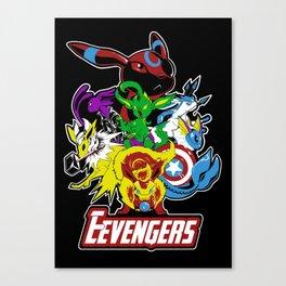 Nick Fureon's Eevengers Canvas Print