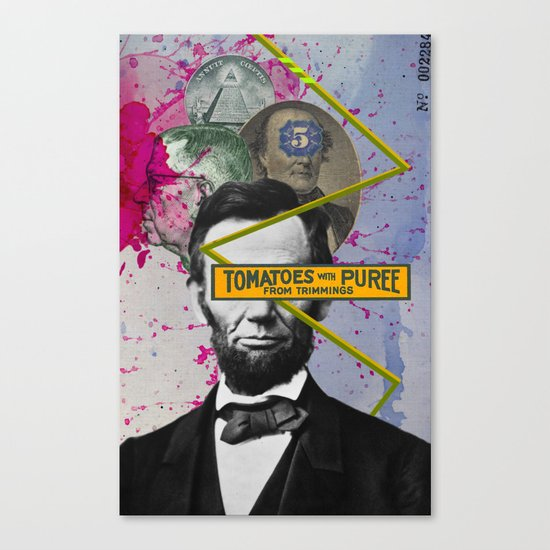 Public Figures -  Lincoln Canvas Print