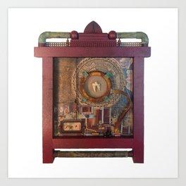 St Badger Reliquary  Art Print