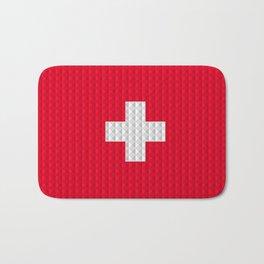 Swiss flag by Qixel Bath Mat