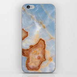Baby Blue Marble with Rusty Veining iPhone Skin