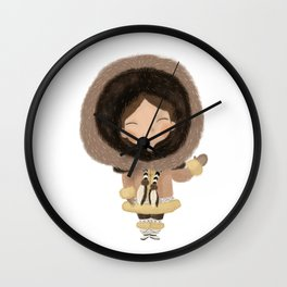Cute eskimo Wall Clock