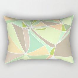 Pastel mosaic  Abstract artwork  Mint peach beige Rectangular Pillow