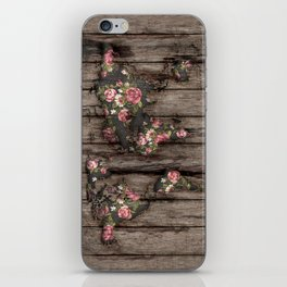 Wood Flowers Mapamundi iPhone Skin