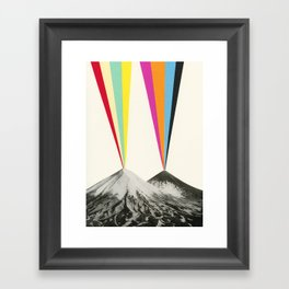 Volcanos Framed Art Print