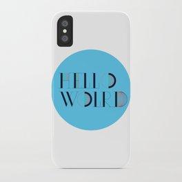 Hello World | Comp Sci Series iPhone Case