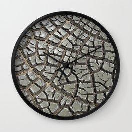 Texture #14 Drought Wall Clock