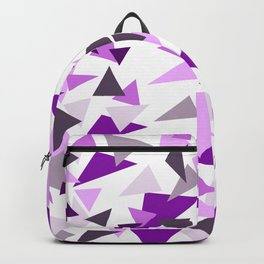 Triangel Purple pink Graphic Design Backpack