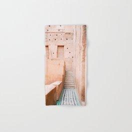 Colors of Marrakech Morocco - El badi palace photo print   Pastel travel photography art Hand & Bath Towel