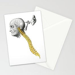spinal column Stationery Cards