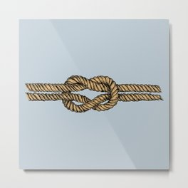 Nautical Boat Knot Metal Print