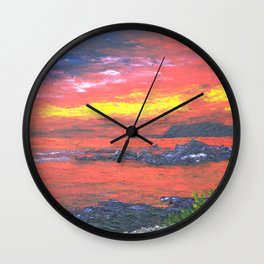 Oban Sunset Wall Clock