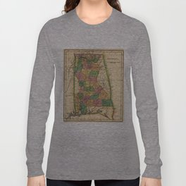 Vintage Map of Alabama (1822) Long Sleeve T-shirt