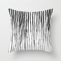 stripe Throw Pillows featuring Stripe by Jack Newbury