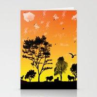 safari Stationery Cards featuring Safari by Kaitlynn Marie