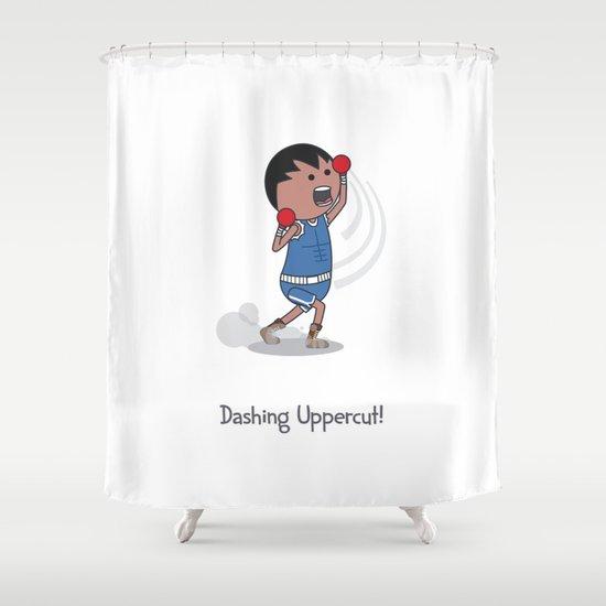 Dashing Uppercut Shower Curtain