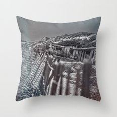 Crystal Cove Abandoned Beach Homes. Throw Pillow