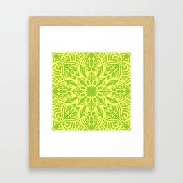 fresh mandala Framed Art Print