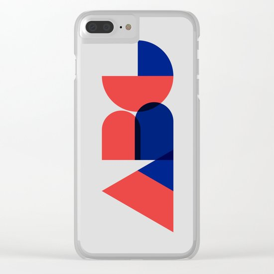 Geometric ABC Clear iPhone Case