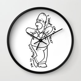 Homer's Museum of Hollywood Jerks Wall Clock