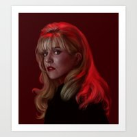 laura palmer Art Prints featuring Laura Palmer from Twin Peaks by Annike
