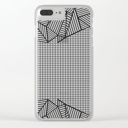Grids and Stripes Clear iPhone Case