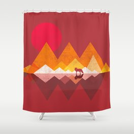 Roaming Lands - Wolf in mountains / animal t shirt, animal print t shirt, wildlife t shirt, Shower Curtain