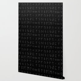 Futhark full print (viking runes) Wallpaper