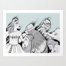 Mexican Dream (Black and White) Art Print