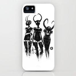 3 horned girls iPhone Case