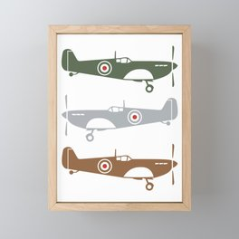Pilot Colorful Spitfire Airplanes Aeroplanes Gift product Framed Mini Art Print