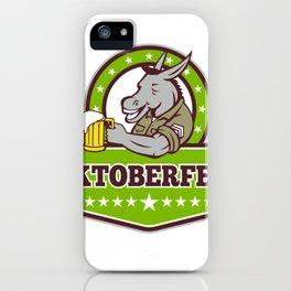 Donkey Beer Drinker Oktoberfest Retro iPhone Case