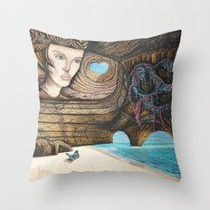 L'amour couleur azur Throw Pillow