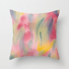 Vibrant summer colour Throw Pillow