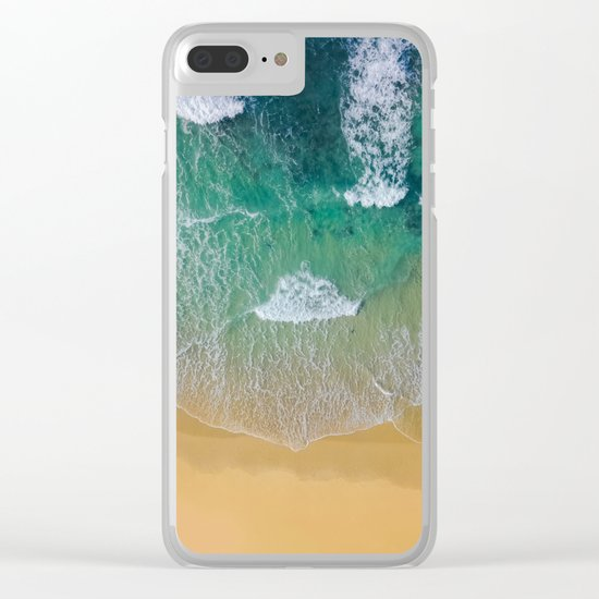 Ocean from the sky Clear iPhone Case
