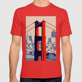Golden gate bridge vector art T-shirt