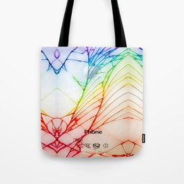 Rainbow Broken Damaged Cracked out back White iphone Tote Bag
