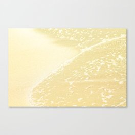 Kapalua Beach sparkling golden sand and seafoam Maui Hawaii Canvas Print